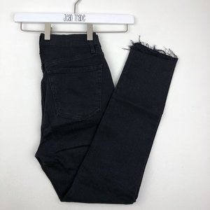 We the Free Button Fly High Rise Frayed Hem Jeans
